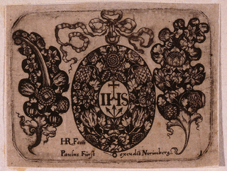 "Print, ""Title Plate,"" Plate 1 from ""Goldsmith Ornament Designs"", ca. 1648"