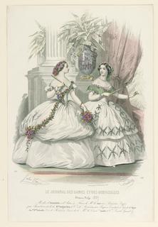 Fashion plate from Le Journal des dames et demoiselles.