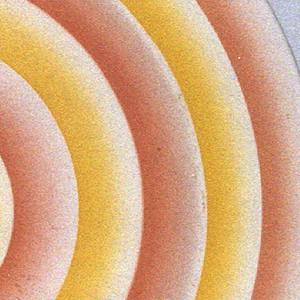 Round plate with concentric orange and yellow circles.