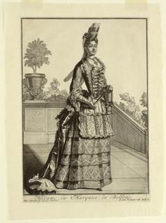 Print, Mme la Marquise de Belfons, ca. 1700