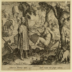 Print, The Discovery of America, plate 1 from Nova Reperta (New Inventions of Modern Times)