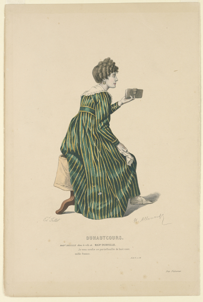 """Unknown, Mme. DeLille as Mme. Durville in """"Duhautcours"""""""