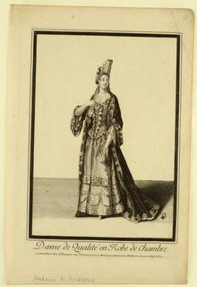 Print, Dame de Qualite, 1656–1708