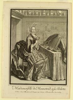 Print, Madamoiselle de Mennetoud a sa Toilette