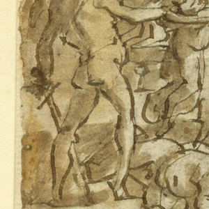 Drawing Page Of A Sketchbook Beheading Of St John The Baptist And