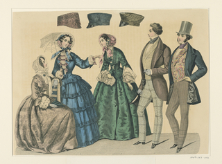Fashion Plate with Ladies' Headwear.