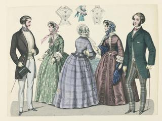 Fashion Plate with Ladies' Headwear and Shirtwaists.
