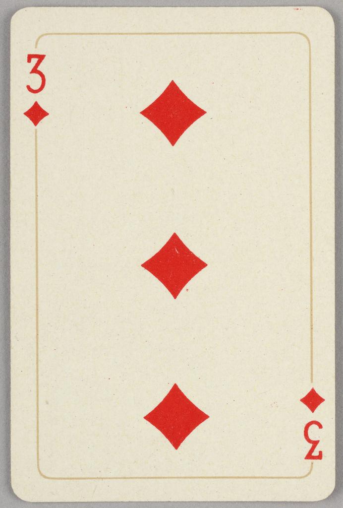 Card, Three of diamonds, 1944–1945