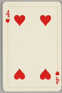 Card, Four of hearts, 1944–1945