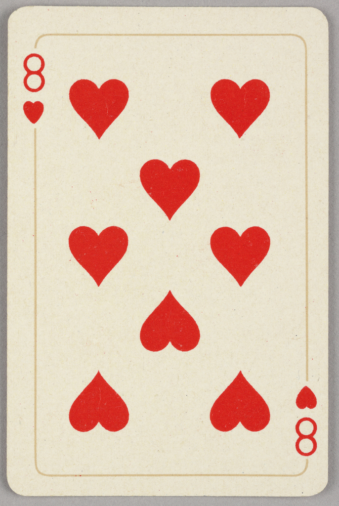 Card, Eight of hearts, 1944–1945
