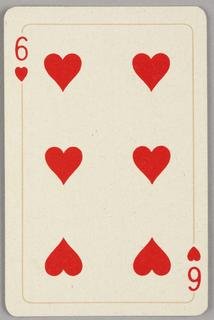 Card, Six of hearts, 1944–1945