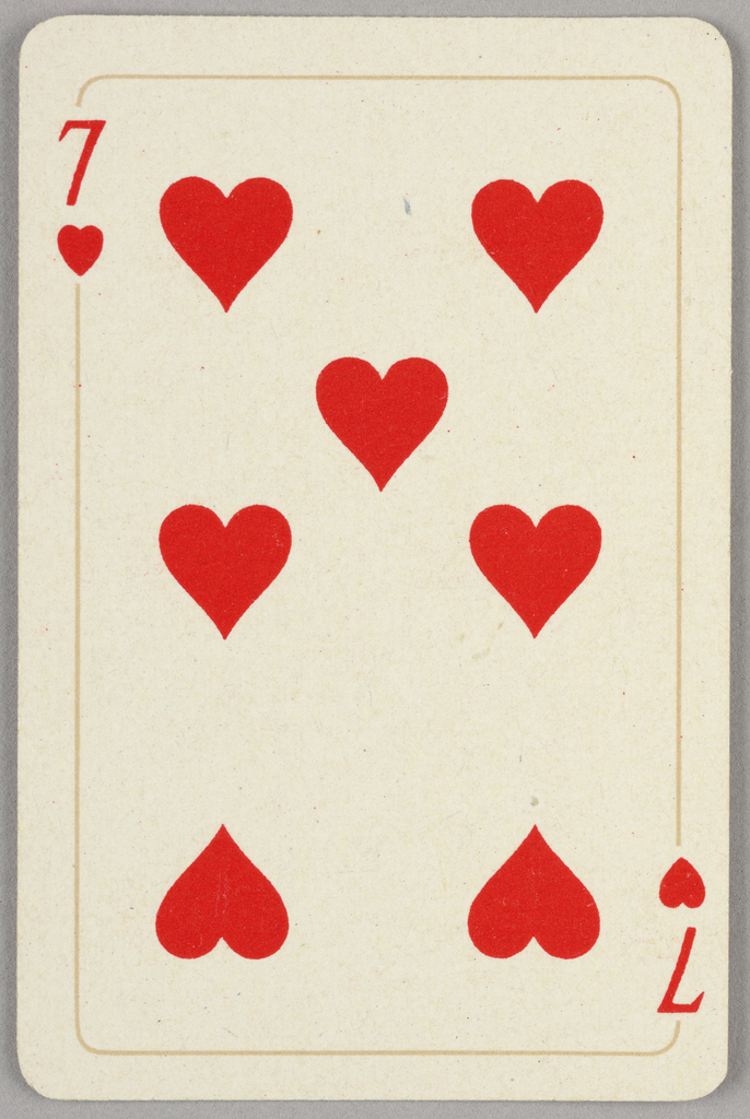 Card, Seven of hearts, 1944–1945