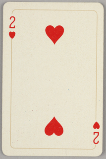 Card, Two of hearts, 1944–1945