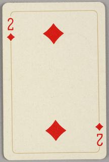 Card, Two of diamonds, 1944–1945