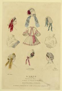 Fashion plate from L'Iris, Moniteur des Modes.
