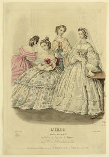 Print, Fashion Plate from L'Iris, Moniteur des Modes, no. 41, 1861
