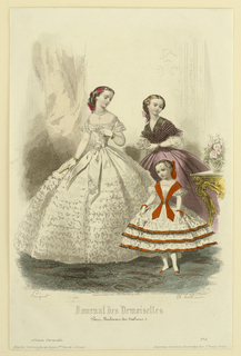 Fashion plate from Journal des demoiselles.