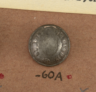 "Convex buttons with ""Surete Publique"" around outside. On reverse, A) ""AM and C. Paris"". B) ""Perdectionne Paris"".  On card i80"