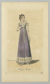Fashion plate from Wiener Moden