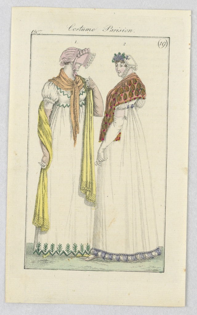 Print, Plate 19, Costume Parisien (Parisian Costume), Journal des Dames et des Modes (Journal of Ladies and Fashion)