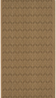 Allover dark brown heart motifs on brown ground.