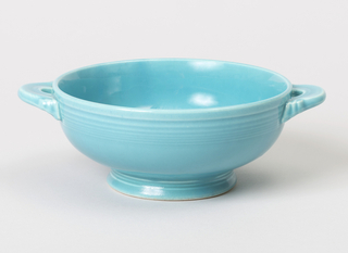 Turquoise cream soup bowl.