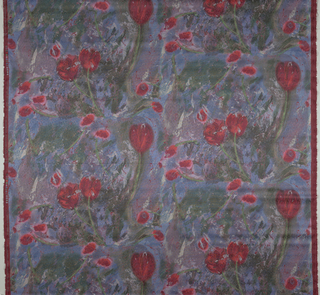 Floating tulips in a murky swirling atmosphere. 14 colors.