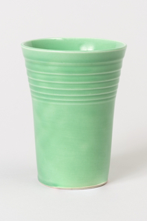 Light green tumbler.