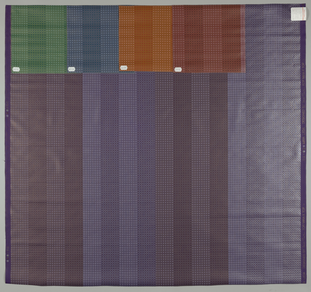 Vertical stripes composed with small squares.