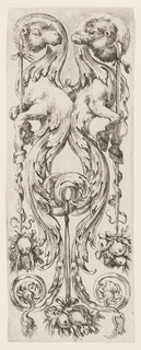 Print, Plate, from Ornamenti o Grottesche (Ornaments or Grotesques)