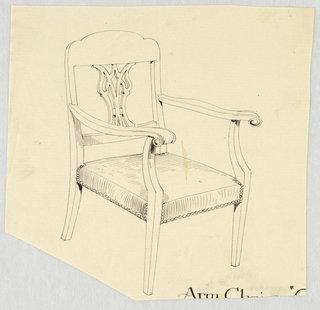 Drawing, Design for Stuffed Chair, Rocker, and Arm Chair (easy chair)