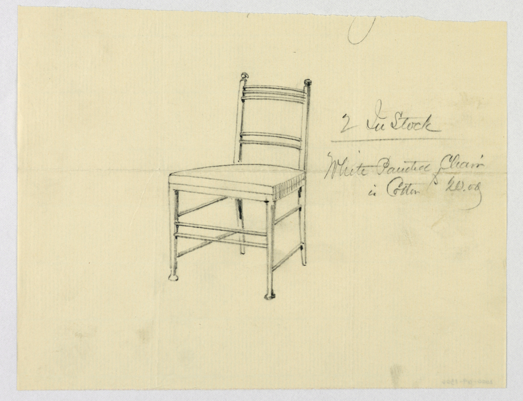 Drawing, Design for White Painted Chair