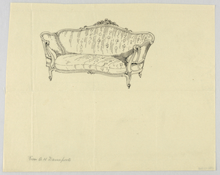 Drawing, Design for Showwood Sofa