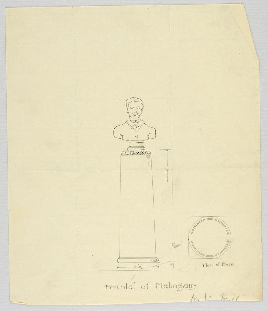 Drawing, Design for Mahogany Pedestal
