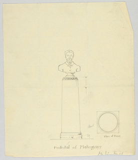Drawing, Design for Mahogany Pedestal, 1900–05