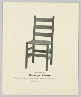 Catalogue Illustration, Designs for Chairs, 1904–05