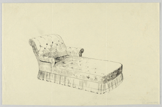 Drawing, Design for Stuffed Couch & Lounge (Divan)