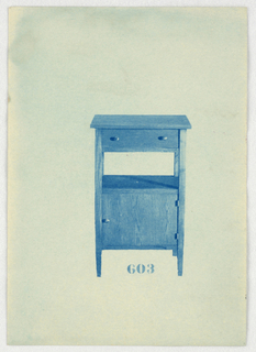 Blueprint, Designs for Wardrobes, Washstands, & Somno (Night Tables)
