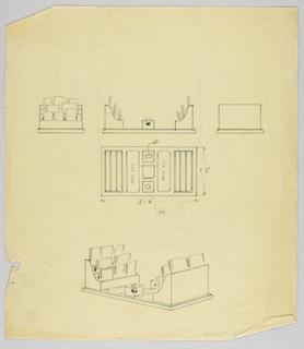Drawing, Design for Desk Set, 1900–05