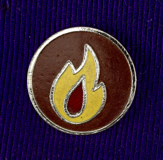 Flame Pin, ca. 1980–90