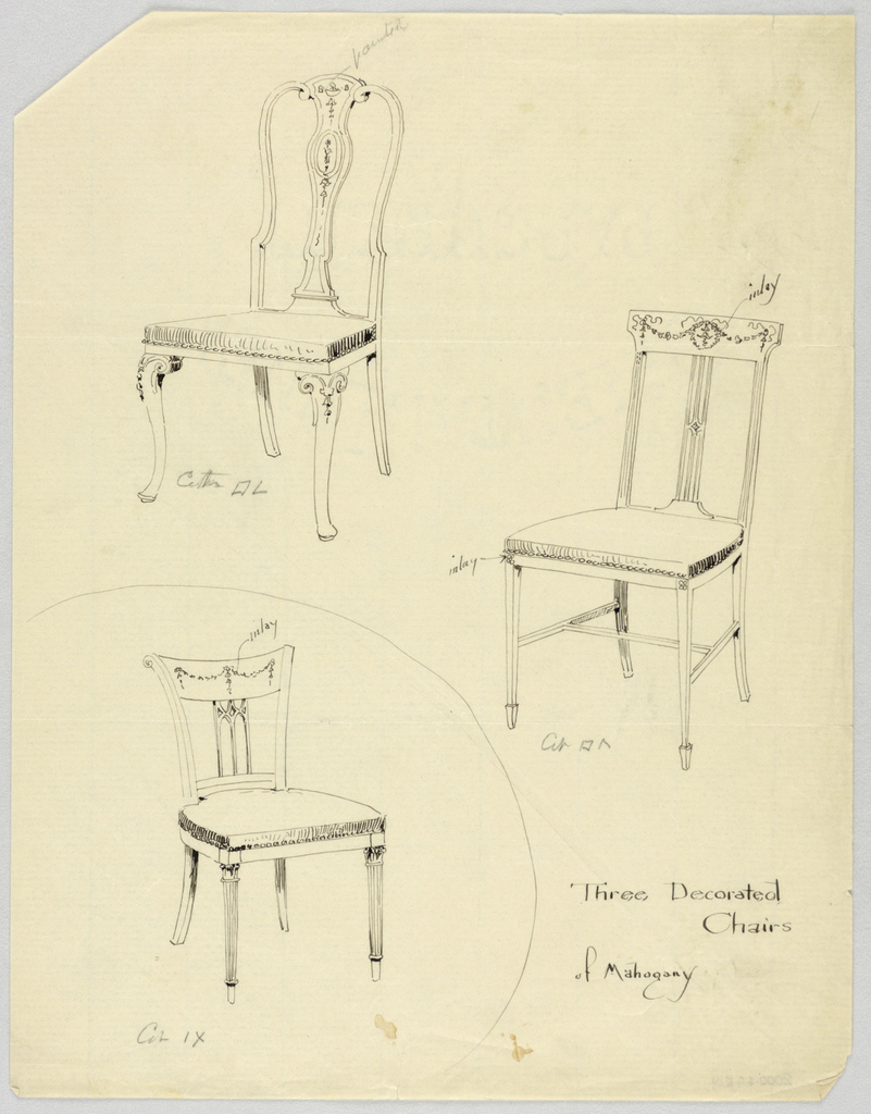 Drawing, Designs for Chairs | Objects | Collection of Cooper