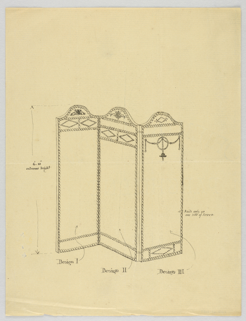 Drawing, Design for Three-Panel Screen, 1900–05