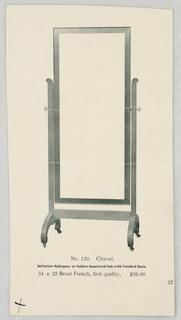 Catalogue Illustration, Design for Mirror & Piano Bench