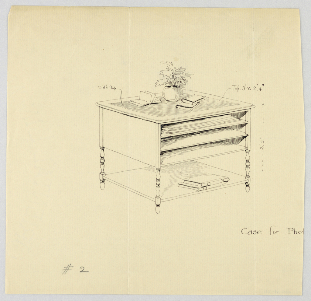 Drawing, Design for Case for Photographs # 2, 1900–05