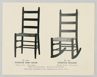 Catalogue Illustration, Designs for Chairs