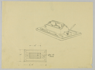 Drawing, Design for Desk Organizer with Quill Pen, 1900–05