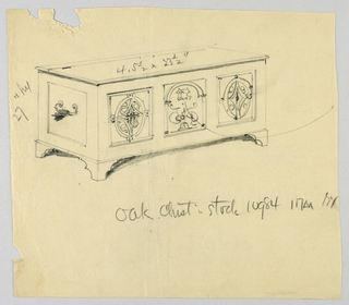 Drawing, Design for Oak Chest, Stock No. 10984
