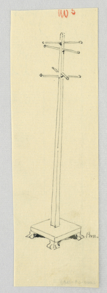 Drawing, Design for Hat Tree No. 5, 1900–05