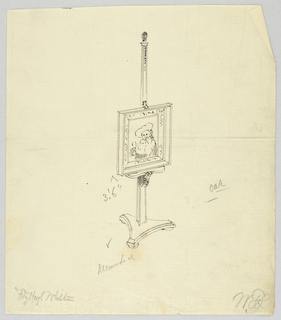 Drawing, Design for Oak Painting Easel, 1900–05