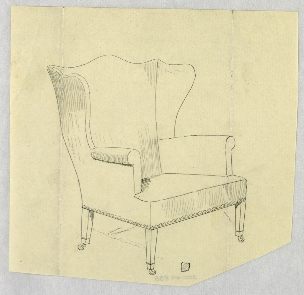 Drawing Design For Stuffed Chair Rocker And Arm Chair Easy Chair